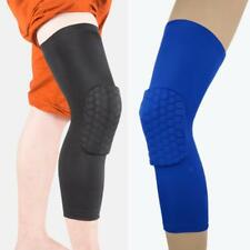 Honeycomb Compression Leg Sleeve Basketball Protector Gear Knee Pads Crashproof