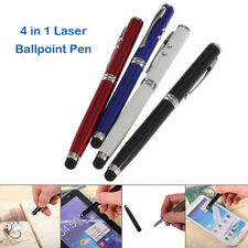 2018 New Laser Pointer 4 in 1 LED Flashlight Touch Screen Stylus Ballpoint Pen