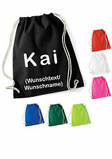 Gym Bag Sports Backpack with name text to Choice Custom Printed