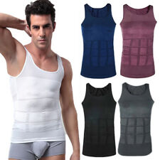 Men Body Shaper Slimming Vest Shirt Abdomen Compression Tank Top Underwear Tummy