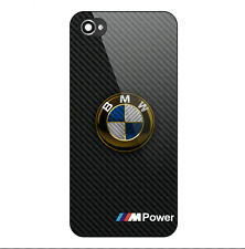 BMW Gold Logo M Power Carbon Print Hard Plastic Case For iPhone 5s 6 6s 7 (Plus)
