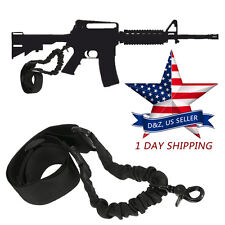 Tactical 1 Single Point Adjustable Bungee Rifle Gun Sling System Strap For AR-15