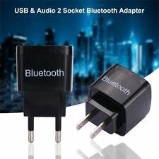 Wireless Bluetooth 3.0 Audio Aux Receiver Adapter Dongle USB Wall Charger