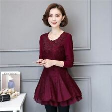Black And Red Color Stylish Fashion Long Sleeve Plus Size Dress For Women R407