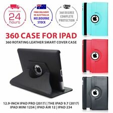 360 Rotating Leather Smart Cover Case for New iPad 9.7 iPad 4 3 2 mini Air Pro