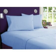 Australian Bedding Collection Sky Blue Solid 1000TC Egyptian Cotton Select Size