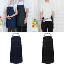 2 Pcs Unisex Chefs Butchers Kitchen Cooking Craft Baking Apron with Front Pocket