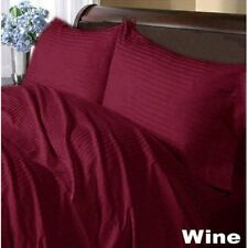 Extra Wall 1 pc Bed Skirt/Valance Wine Strip 1000TC Egyptian Cotton Select Size