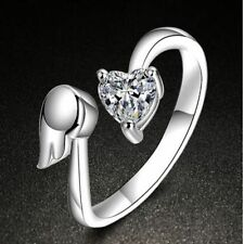 Jewelry Fashion Adjustable Size Love Heart Adjustable Ring Ring Angel Wings