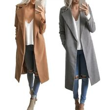 Fashion Womens Casual Oversized Long Sleeve Slim Trench Coat Cardigan Jacket Top
