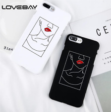 Sexy Red Lips Lady Cartoon Fashion Slim Phone Case Back Cover Coque For iPhone