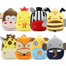 Cute Toddler Kids Mini Backpack Plush Animal Cartoon Children School Bag 11.5x10