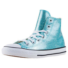 Converse Chuck Taylor All Star Hi Kids Trainers Aqua White New Shoes