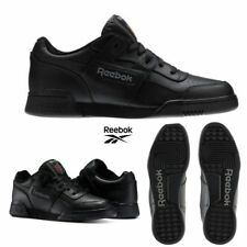 Reebok Classic Workout Plus Runner Leather Shoes Black 2760 SZ 5-12.5