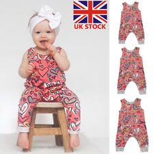 Newborn Baby Girls Summer Sleeveless Jumpsuit Romper Bodysuit Outfits Clothes