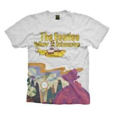 OFFICIAL LICENSED - THE BEATLES - YELLOW SUBMARINE LOGO & SCENERY T SHIRT