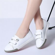 Flats ladies slip on ballet flats loafers leather shoes women casual boat shoes