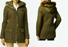Calvin Klein Faux-Fur-Trim Water-Resistant Hooded Quilted Coat