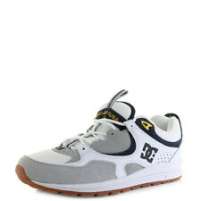 Mens DC Kalis Lite White Grey Yellow Lightweight Skate Trainers Shoes Shu Size