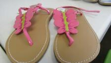 GYMBOREE Daisy Delightful Sandals Pink ButterfliesShoes Youth Size 9 13 NEW