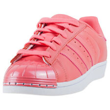 adidas Superstar Metal Toe Womens Trainers Pink New Shoes