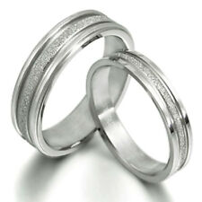 Titanium Ring Set Eternity Pair His Her Wedding Engagement Rings Bands GM016A1
