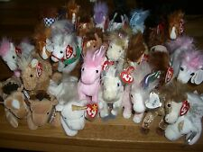 w-f-l Ty Beanie Babies Horse Unicorn 15 up to 20 cm Selection Stuffed Toy