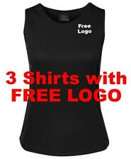 From 3-5 Shirts JB Ladies Poly Singlet with CUSTOM FREE Embroidery LOGO ( 7PS1 )