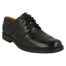 MENS CLARKS LEATHER LACE UP BROGUE WEDDING UNSTRUCTURED SHOES UN ALDRIC WING