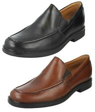 MENS CLARKS LEATHER UNSTRUCTURED SLIP ON CASUAL SOFT SHOES SIZE UN ALDRIC SLIP