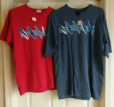 2) Mens NWT New Surfer Surfing Surf Board Short Sleeve Graphic T-Shirt M/Med