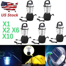 Outdoor Solar Powered 36 LED Hand Crank Camping Lantern Light Lamp LOT1-50 PCS