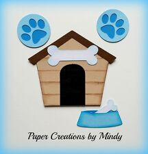 CRAFTECAFE MINDY PUPPY DOG HOUSE DIECUTpremade paper piecing for scrapbook page