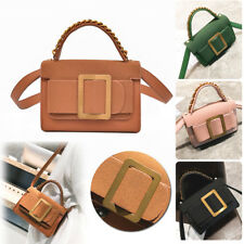 Women Shoulder Bag Messenger Crossbody Satchel Flap Buckle Handbag Tote Purse PU