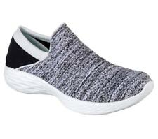 Skechers You Walk White/Black Slip On Sporty Comfort Sneaker Shoes Women's
