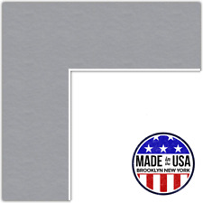 ArtToFrames Custom Silver Picture Photo Frame Mat Matting Board