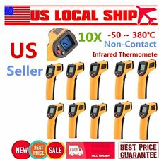 10PCS Non-Contact LCD IR Laser Infrared Digital Temperature Meter Thermometer RS