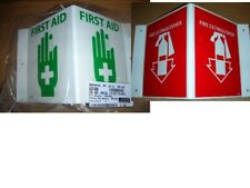 Fire Extinguisher or First Aid Projection Wall Sign Visi-Sign VS1R VS21W