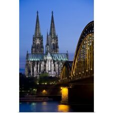 Poster Print Wall Art entitled Germany, Cologne, Cologne Cathedral And