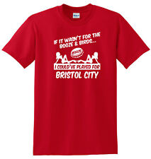 BRISTOL CITY FAN THEMED BOOZE AND BIRDS T-SHIRT