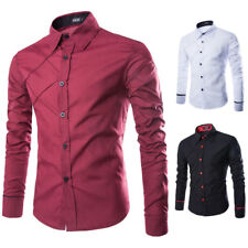 Mens Luxury Shirt Long Sleeve Hot Stylish Casual Formal Dress Business Fashion
