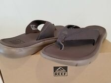 New In Box Mens Reef Cloudbreak Thong Sandals Brown size 7 Super Soft Womens 8.5