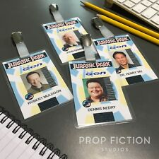 Jurassic Park - Prop InGen Security Clip-on Badges / Employee Cosplay ID Cards