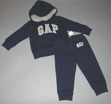Baby Gap 6-12 or 18-24 months Boys Dark Blue Hoodie Pants Outfit New with Tags
