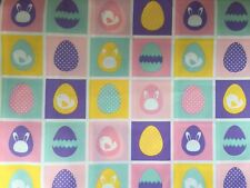 Easter Egg Spring Pastel Cotton Fabric Yard