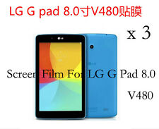 """3 Glossy Matte LCD Screen Protector Guard Film Cover For 8"""" LG G Pad 8.0 V480"""