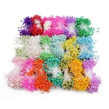 Artificial Pearl Double Headed Flower Stamens Wedding Craft Floral Decoration