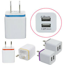 2 Port US/EU Home Travel Dual Port AC USB Wall Charger Dock for iPhone Charging