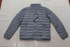NWT Men Hollister by Abercrombie  light-weight down puffer Jacket size  L Gray