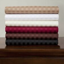 New 4 pc Bedding Sheet Set 800TC Egyptian Cotton All Size Striped Colors